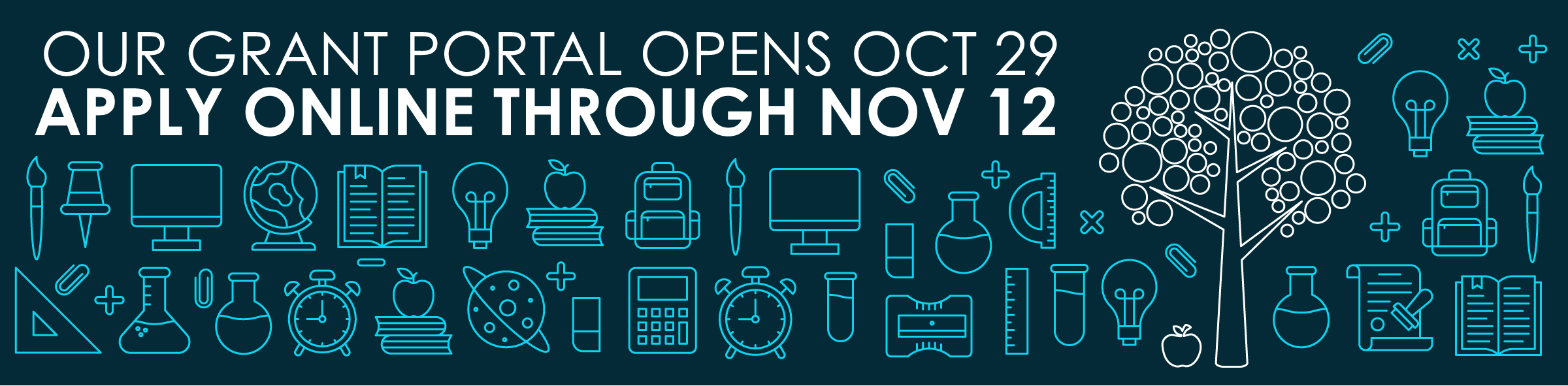 Our Grant Application portal opens October 29. Stay tuned for more details.></h3> </div></div></div><div id=